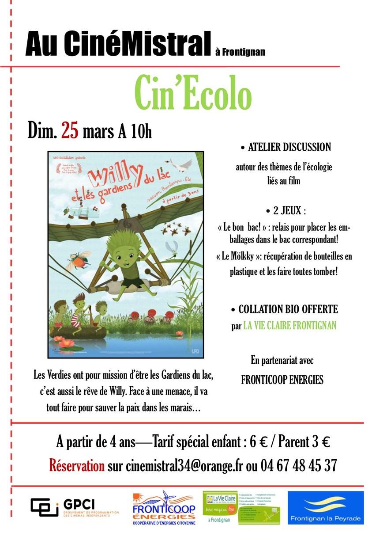 """Cin""""Ecolo - au CinéMistral à Frontignan - Pour les enfants et les parents @ CinéMistral"""
